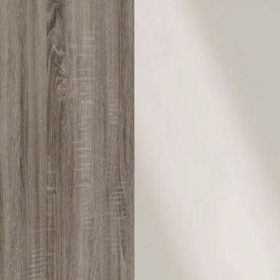 Dark Rustic Carcase and Magnolia Glass Front Oak 314