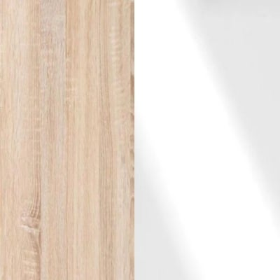 Rustic Oak Carcase and White Glass Front 313