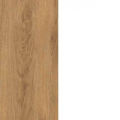 ZA495 : Natural Royal Oak with High Gloss White Front