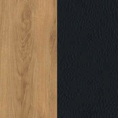 ZK460/ 5511.52 : Natural Royal Oak with Black Faux Leather