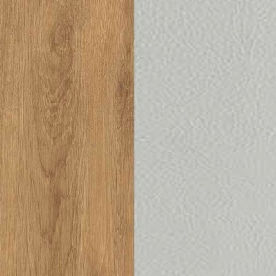 ZK460/ 5513.52 : Natural Royal Oak with Silk Grey Faux Leather