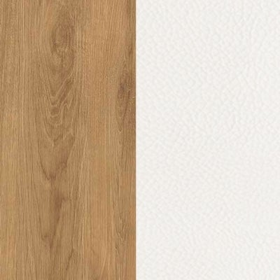 ZK460/ 5512.52 : Natural Royal Oak with White Faux Leather