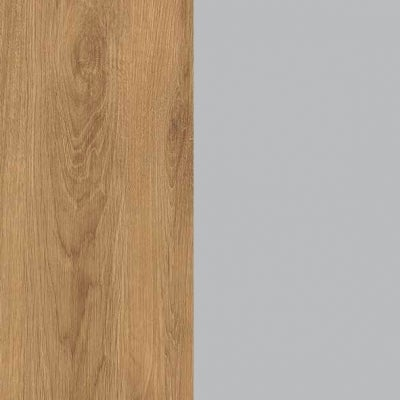 ZK460/ 5520.52 : Natural Royal Oak with Silk Grey Woven Fabric