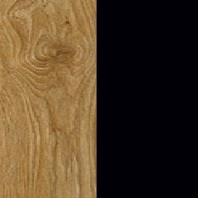 ZA357 : Natural Royal Oak with Glossy Black Front