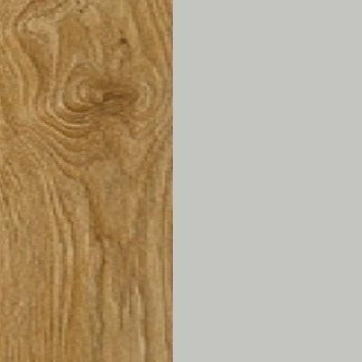 ZA369 : Natural Royal Oak with Matt Silk Grey Front and Top