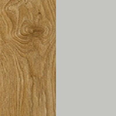 ZA359 : Natural Royal Oak with Glossy Silk Grey Front and Top