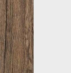 ZA565 : Sanremo Oak Dark with Glossy Crystal White Front