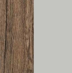 ZA579 : Sanremo Oak Dark with Matt Silk Grey Front and Top
