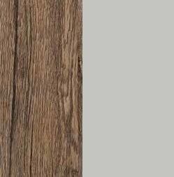 ZA569 : Sanremo Oak Dark with Glossy Silk Grey Front and Top