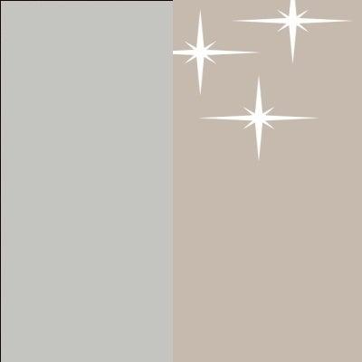 ZA626 : Matt Silk Grey with High Gloss Cappuccino Front