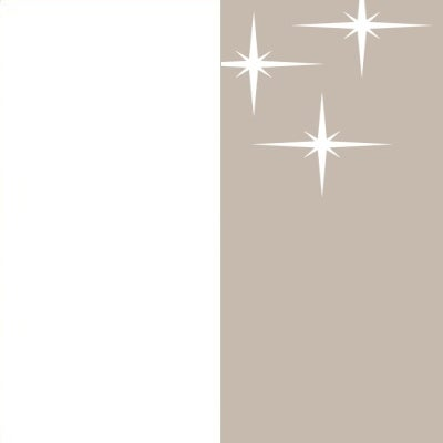 ZA136 : Matt White with High Gloss Cappuccino Front