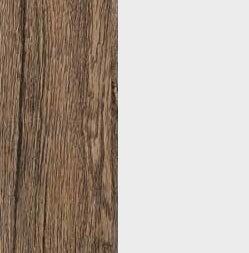 ZA575 : Sanremo Oak Dark with Matt Crystal White Front