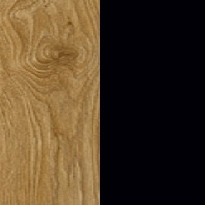 ZA357 : Natural Royal Oak with Glossy Black Front and Top