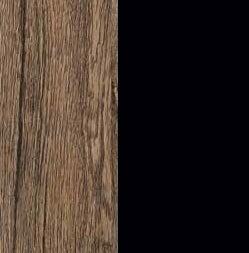ZA567 : Sanremo Oak Dark with Glossy Black Front and Top