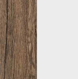 ZA565 : Sanremo Oak Dark with Glossy Crystal White Front and Top