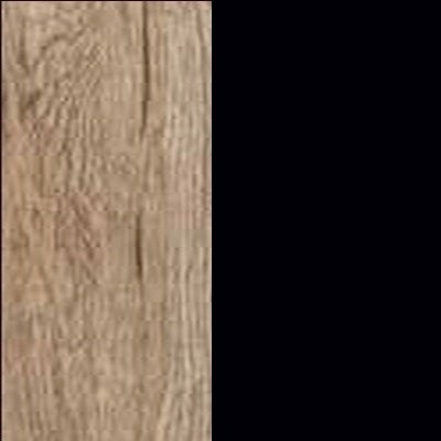 ZA647 : Sanremo Oak Light with Glossy Black Front and Top