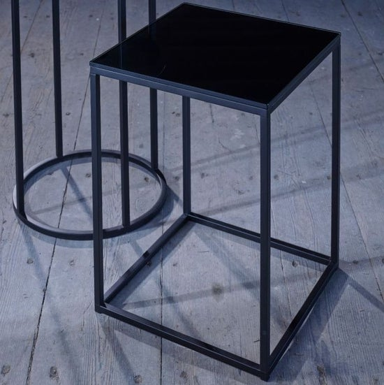 Westminster Black Glass and Black Square Coffee Table
