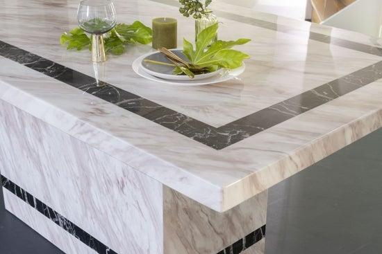 Urban Deco Rome 180cm Cream Marble Dining Table