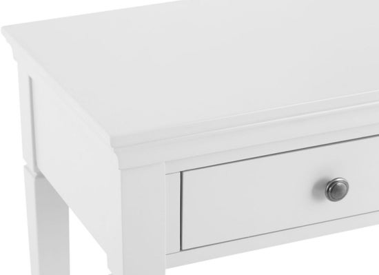 Chantilly White Painted 2 Drawer Dressing Table