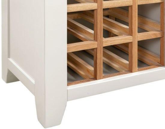 Lundy Oak and White Wine Cabinet