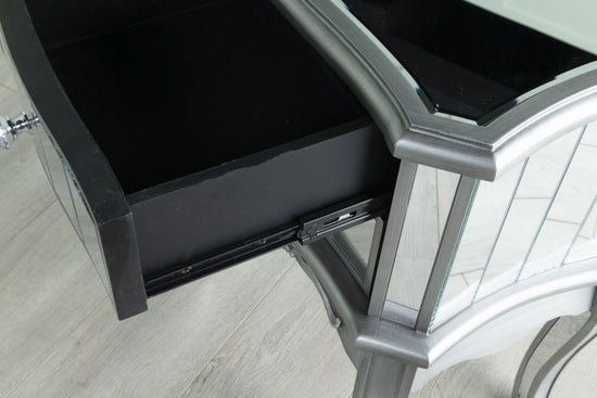 Tiffany French Mirrored 2 Drawer Bedside Table