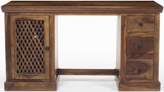 Maharani Sheesham Twin Pedestal Computer Desk