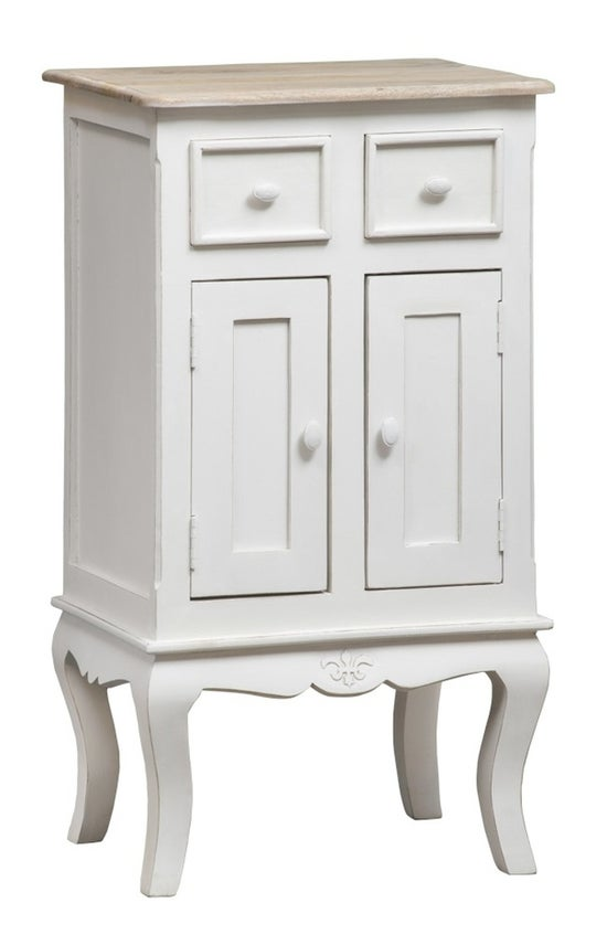 Urban Deco Fleur French Style Distressed Painted Hall Cabinet