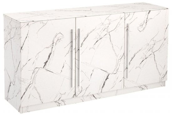 Clearance - Selmont Marble Effect Large Sideboard - New - FSS3264