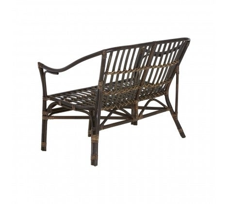 Clearance - Milano Dining Set - Black Natural Rattan and Tempered Glass - New - E-421