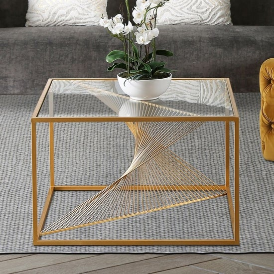 Cheadle Gold and Glass Coffee Table