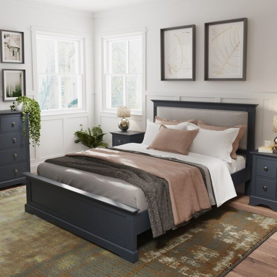 Ashby Midnight Grey Painted Bed