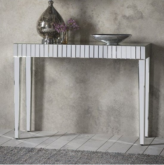 Clearance - Gallery Florence Mirrored Console Table - New - E-824