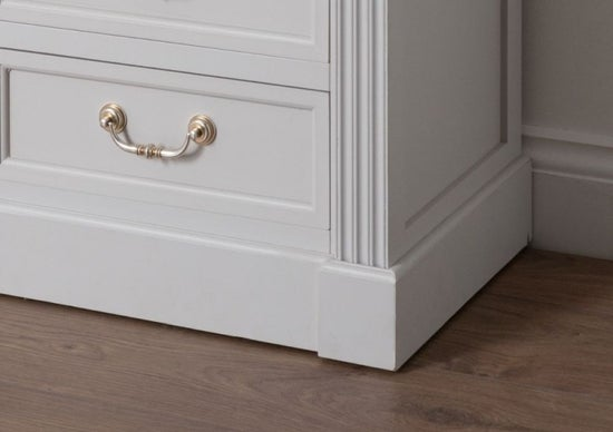 Clearance - Hill Interiors Liberty White Painted Bedside Cabinet - New - E-806