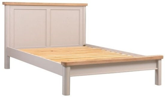 Clarion Oak and Grey Painted Bed