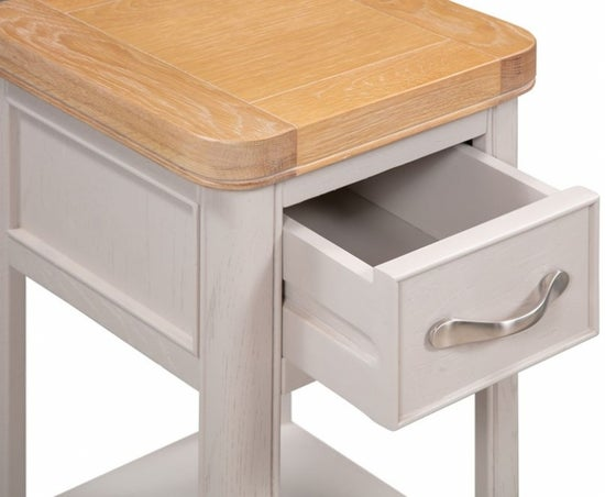Clarion Oak and Grey Painted Small Bedside Cabinet