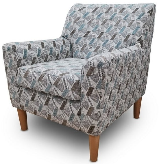 GFA Darcy Accent Chair - Aztec Teal Fabric