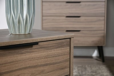 Clearance - Hong Kong Carini Walnut 4 Drawer Chest with Wooden Legs - New - P-45