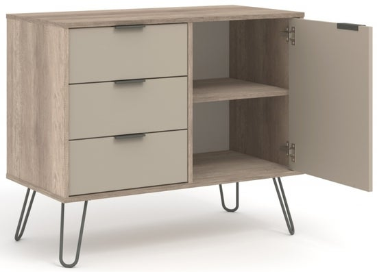 Augusta Driftwood Small Sideboard with Hairpin Legs