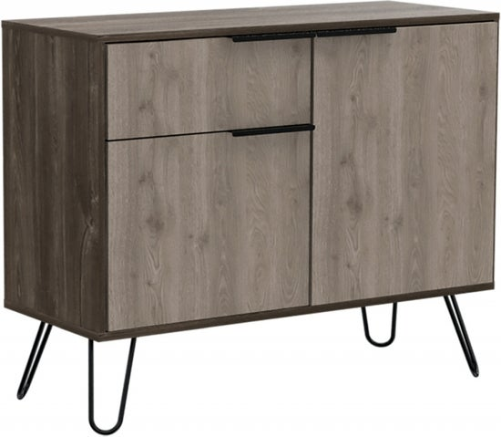 Nevada Small Sideboard with Hairpin Legs - Grey Oak Effect
