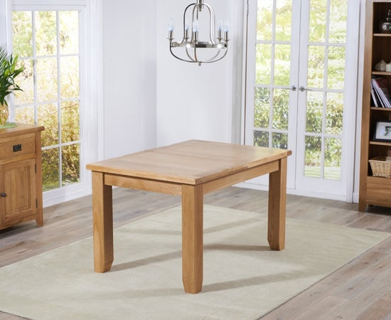 Mark Harris York Oak Extending Dining Table and 4 Roma Cream Chairs