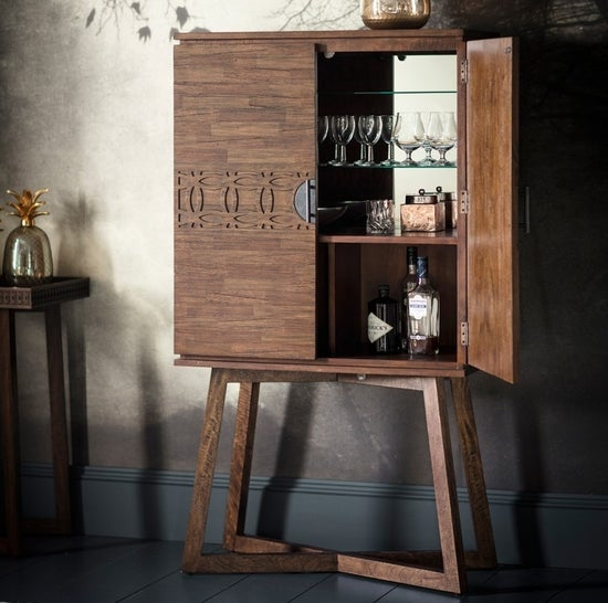 Gallery Boho Retreat Chocolate Cocktail Cabinet